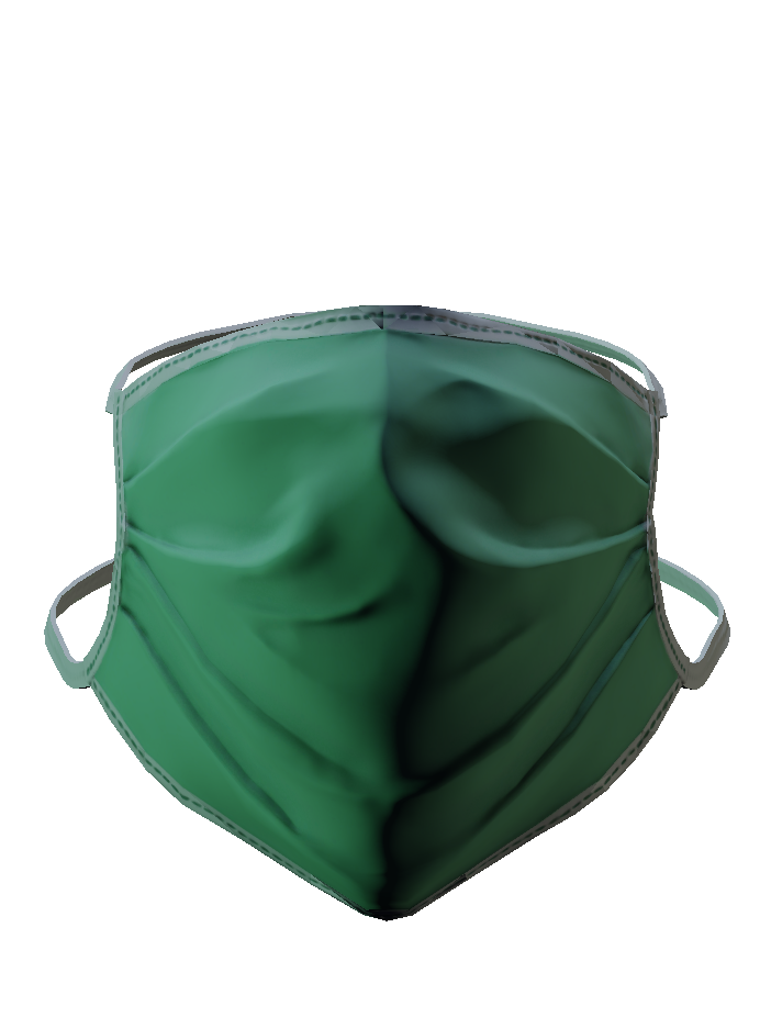 green medical mask png