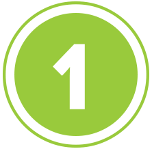 Green Number 1 Png Image