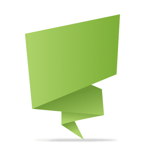 green origami banner transparent png