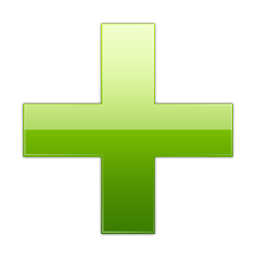 Green Plus Icon image #13072