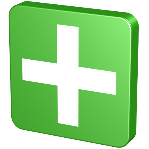 Green Plus Icon image #13065