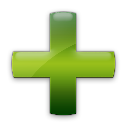 Green Plus Sign Icon image #13069