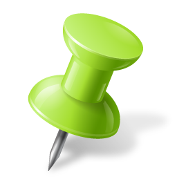 Green Push Pin Icon image #17901