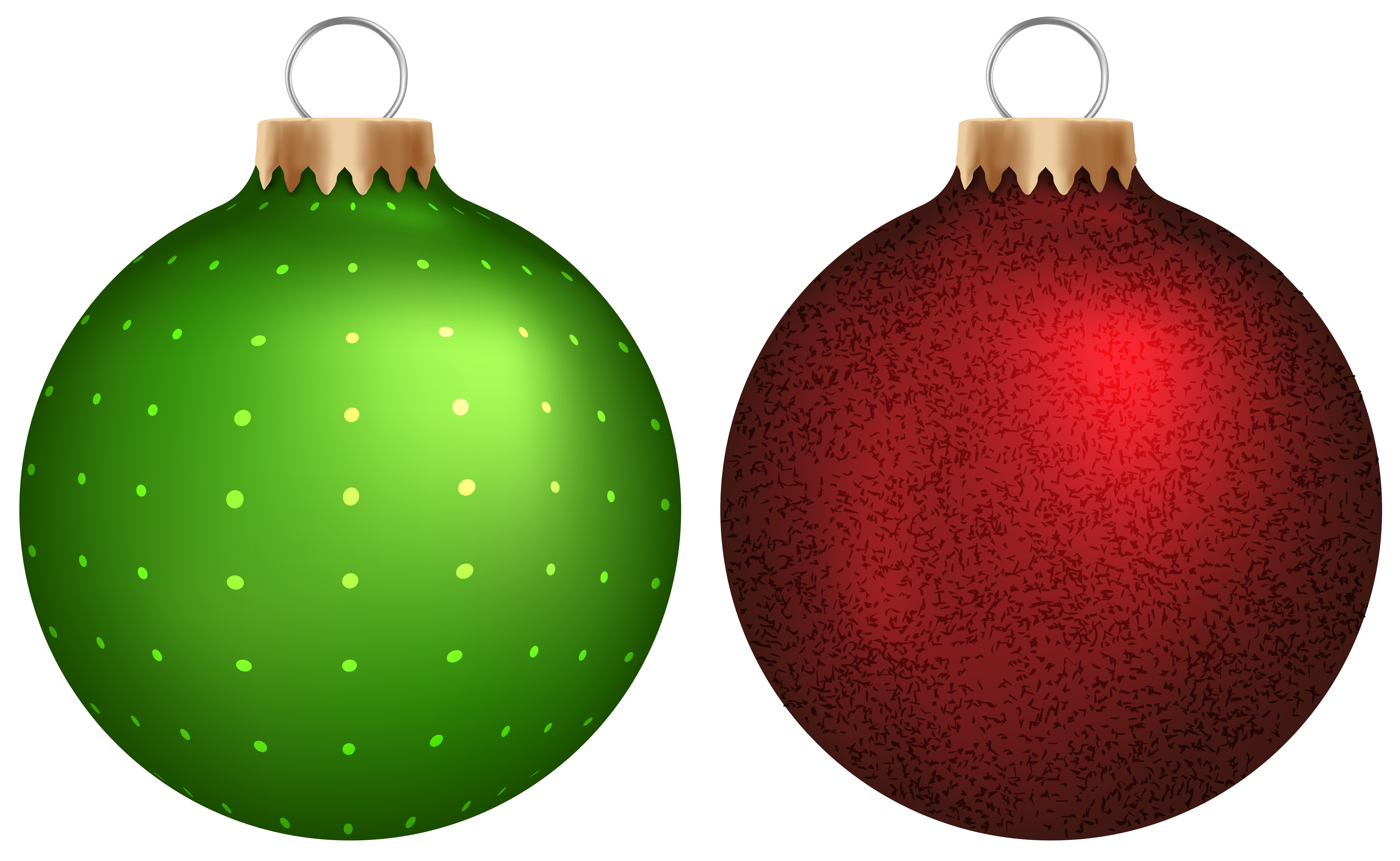 green red christmas balls png