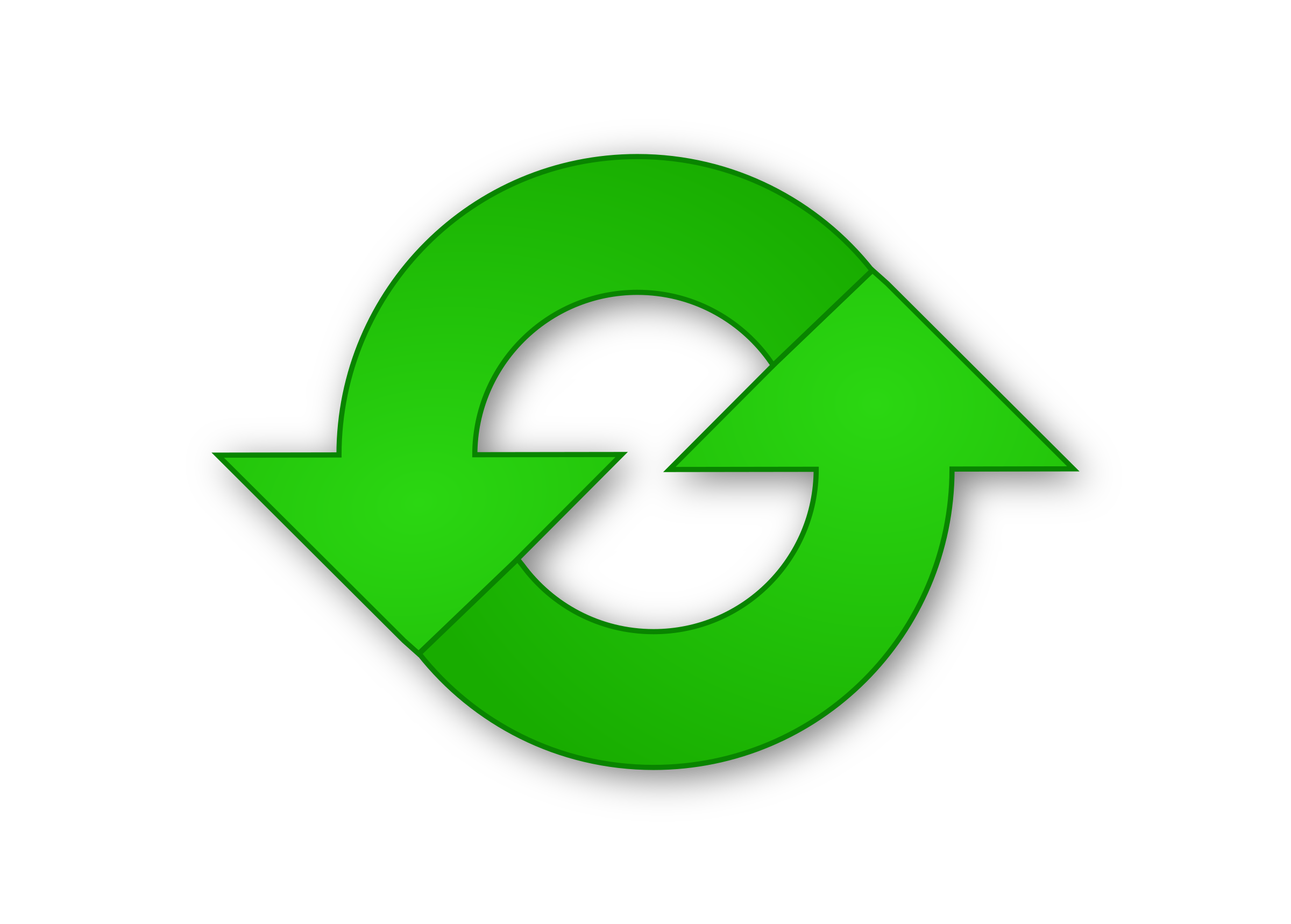 Green Refresh Icon Png image #10827