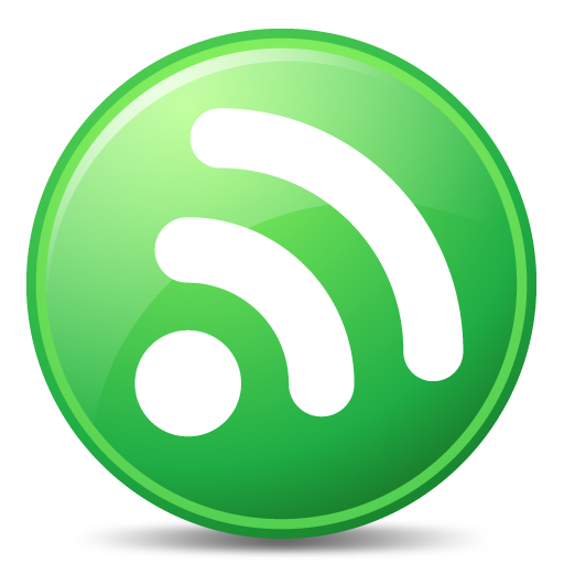 Green Rss Feed Icon Png image #28076