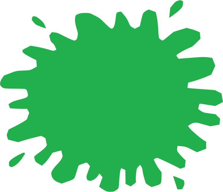 Green Shapes Splat Png image #38306