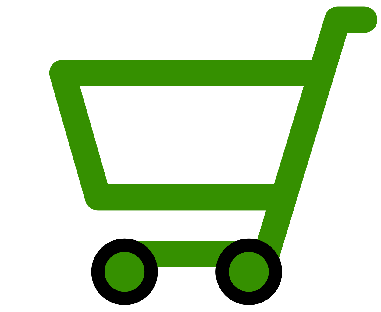 Green Shopping Cart Icon image #29079