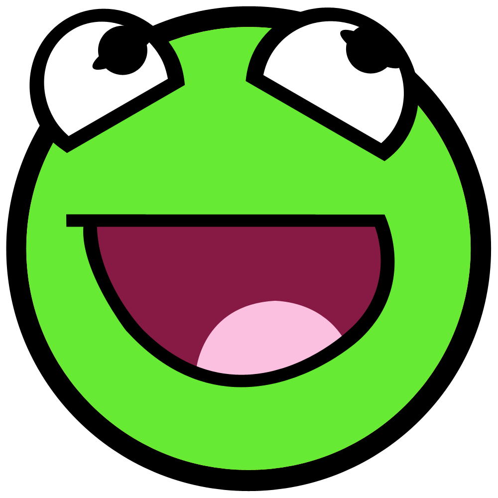 Green Smiley Face Png image #42654