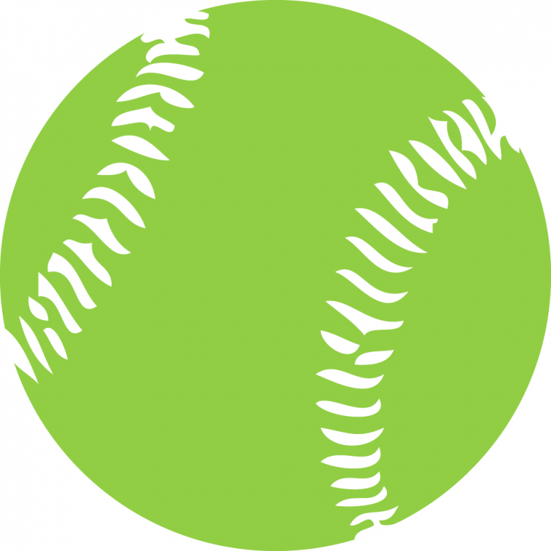 Green Softball Png image #38804