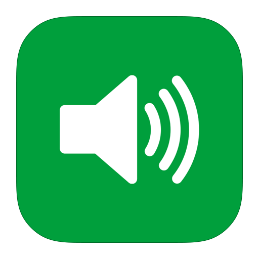Green Sound Png Icon image #35766