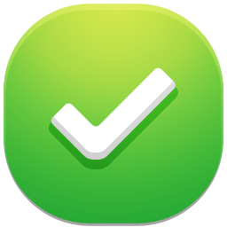 Green Square Tick Icon image #14175