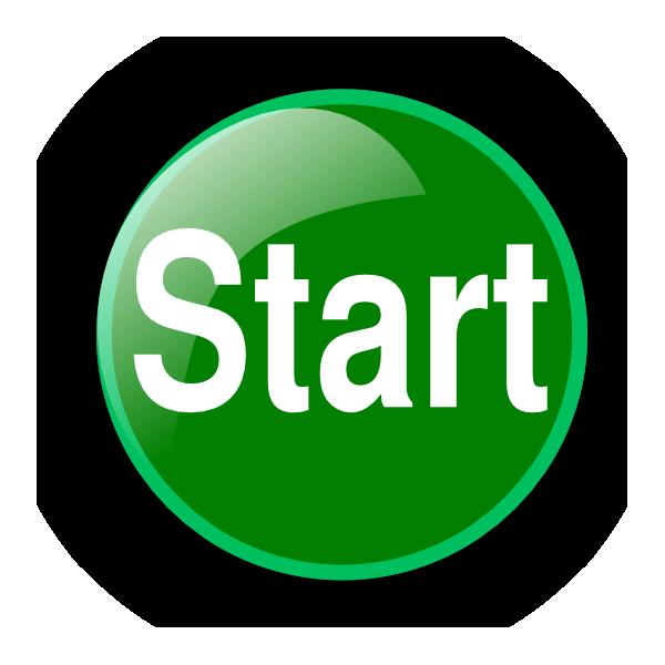 Green Start Button Clip Art image #44877