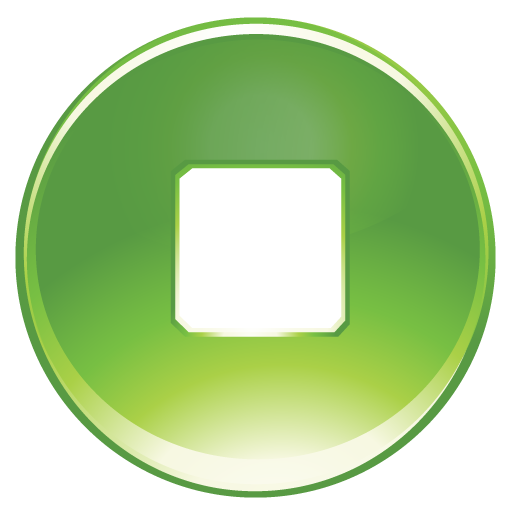 Green Stop Icon image #13420