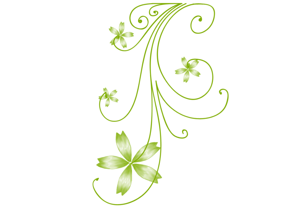 green swirls png
