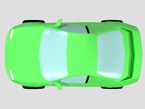 Green Top car png