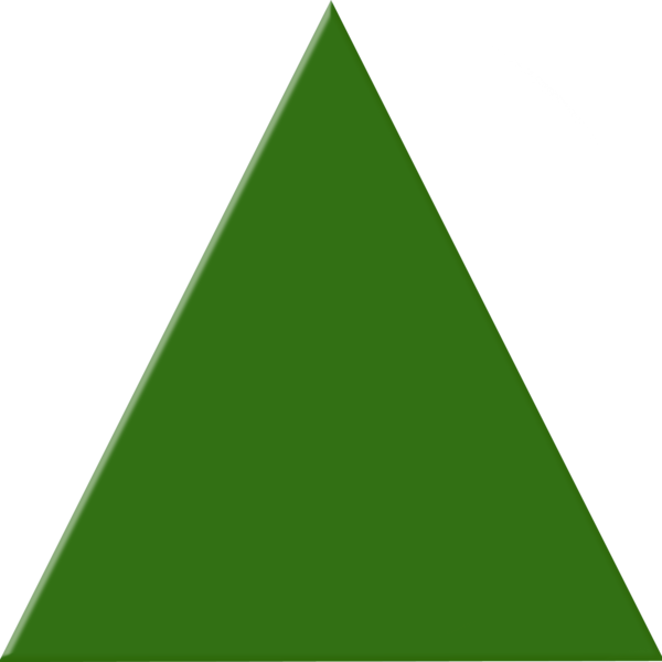 Green Triangle Png image #42415