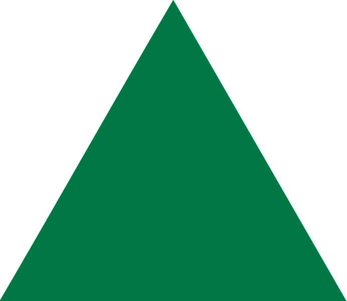 Green Triangle Png image #42419