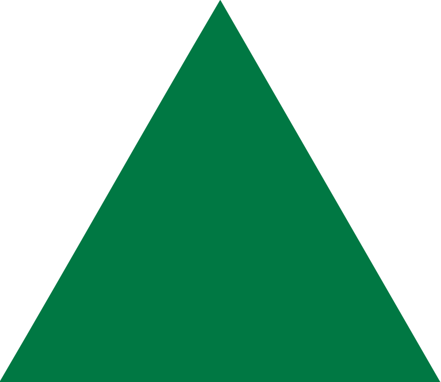 Green Triangle Png image #42422