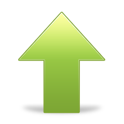 Green Up Arrow Png image #27155