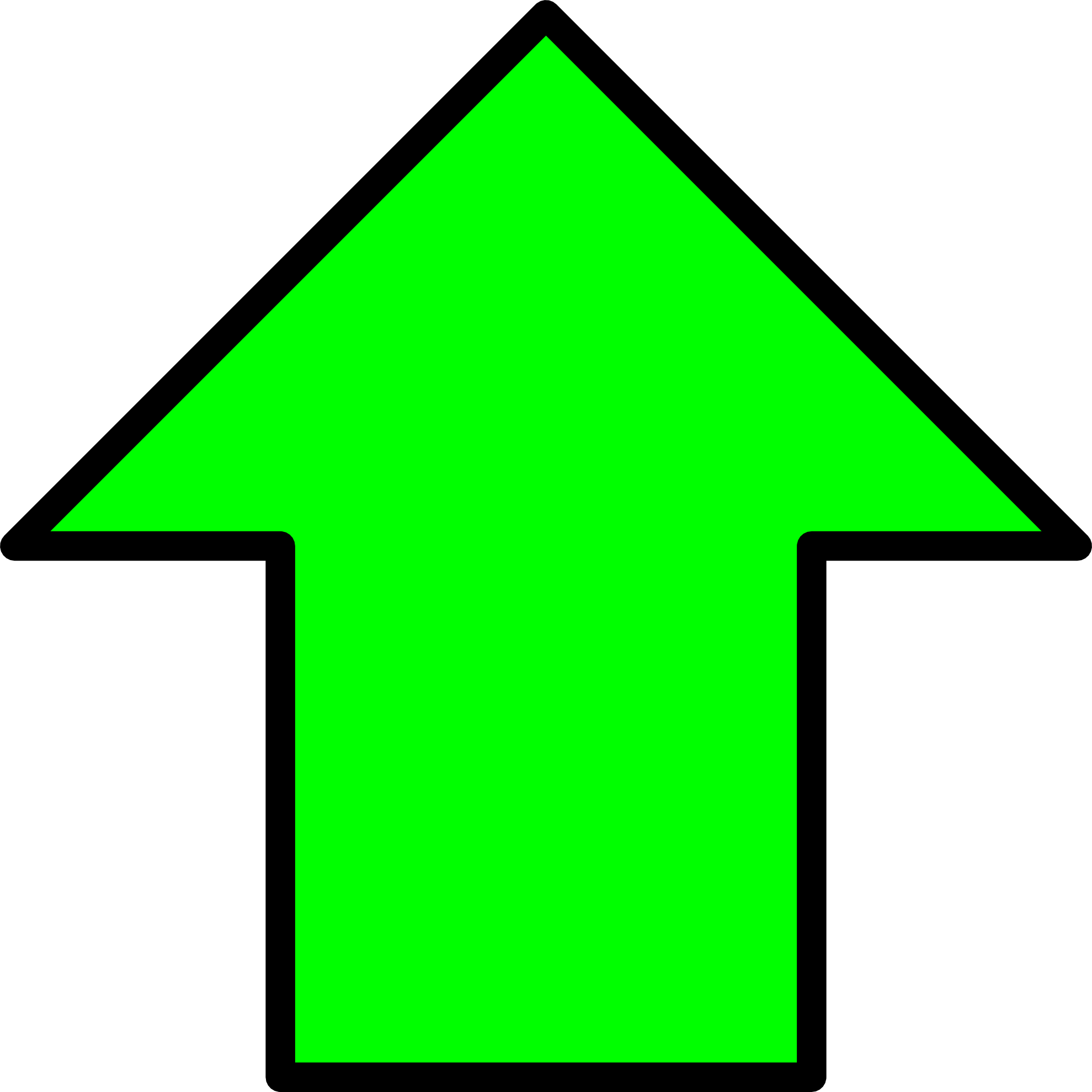 Green up arrow image