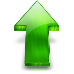 Green Up Arrow Png image #27157