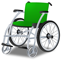 Green Wheelchair Png image #40984