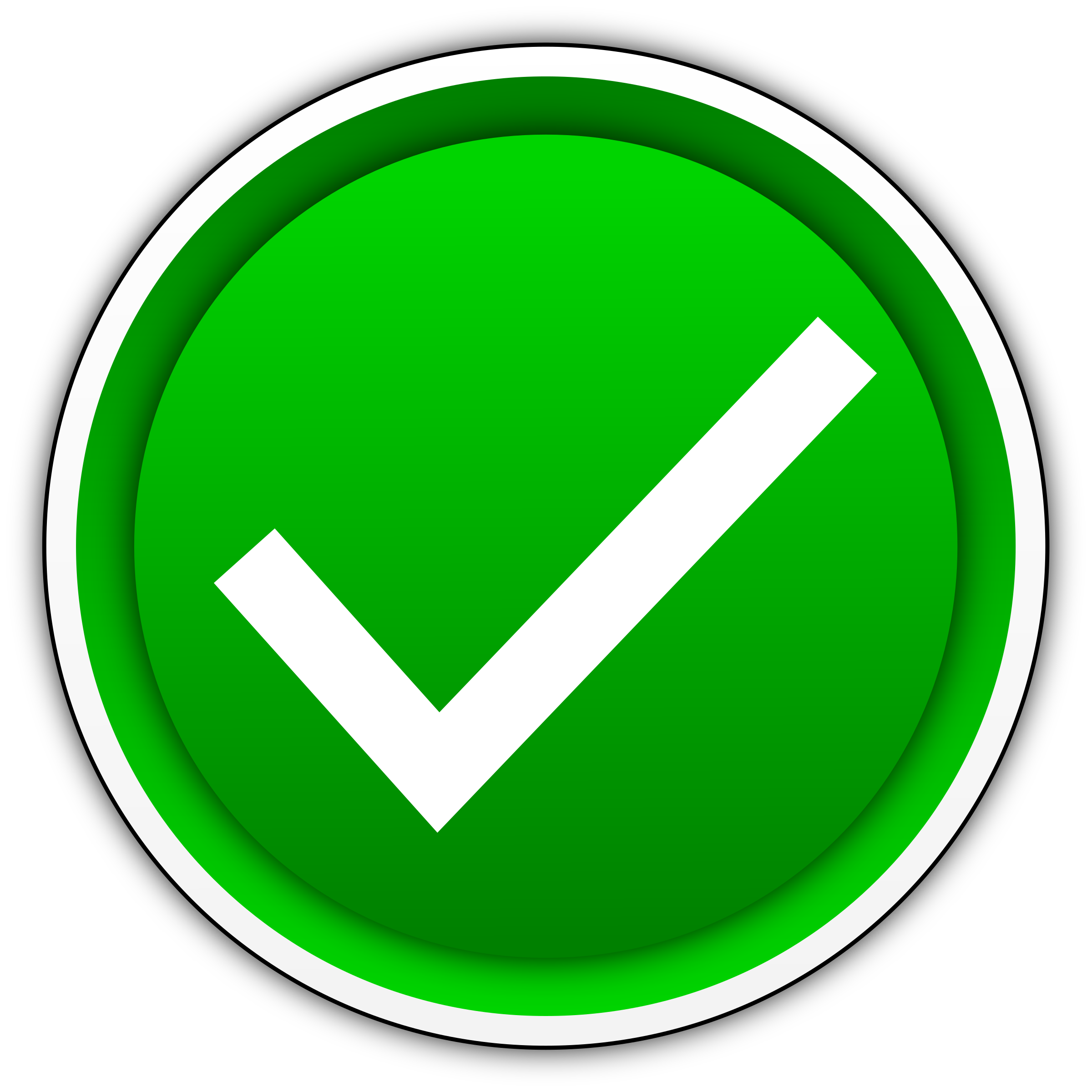 Green Yes Check Mark Png image #39564