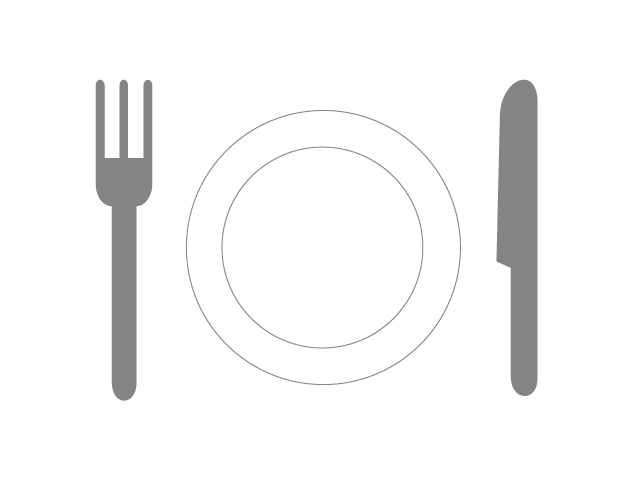 Grey Fork And Knife Png image #3664