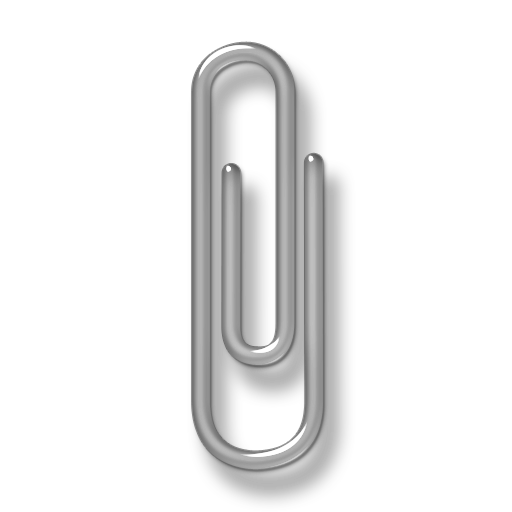 grey paper clip icon