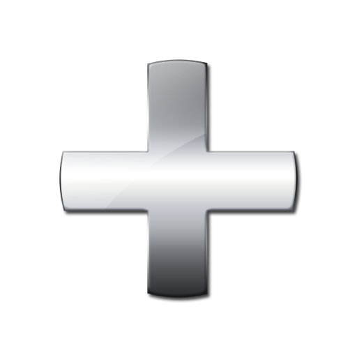 Grey Plus Icon image #13068