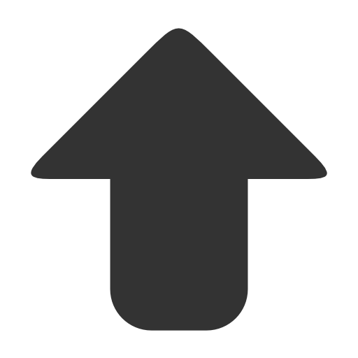 Grey Up Arrow Icon image #29567