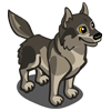 Grey Wolf Icon Png image #2865