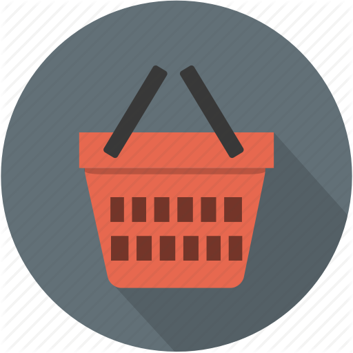 Vector Shopping Basket Drawing image #7463