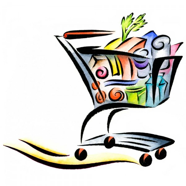 Png Grocery Cart Save image #7501