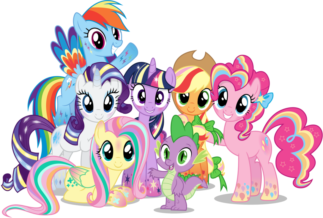Group Little Pony PNG Pic image #47130