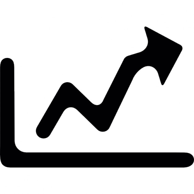 Growth Graph With Arrow To The Right Icon image #3469