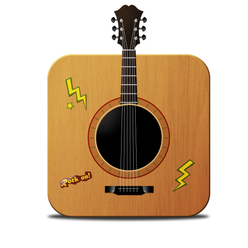 Guitar Drawing Icon image #17579
