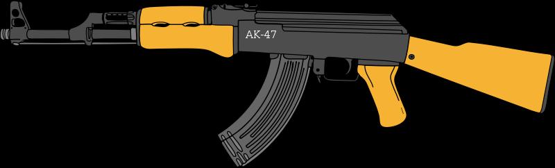 gun, terrorist, clipart ak 47 png