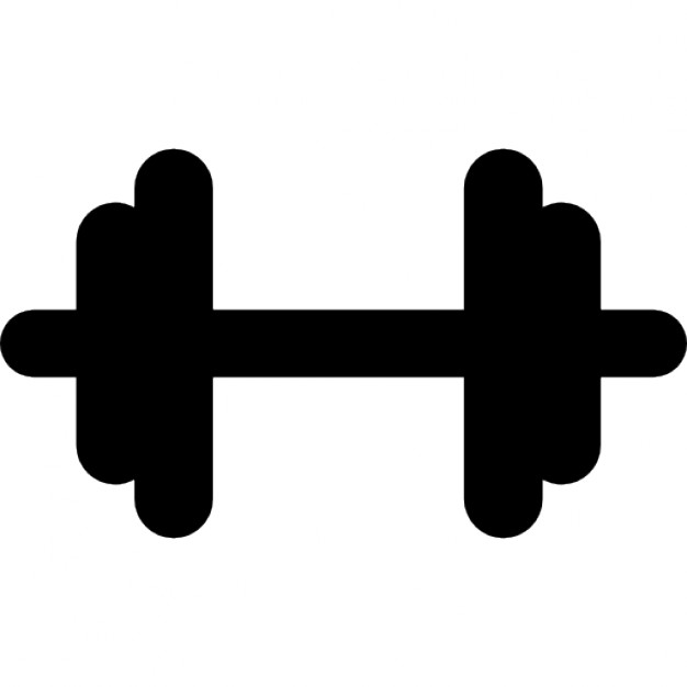 Gym dumbbell black silhouette Icons | Free Download