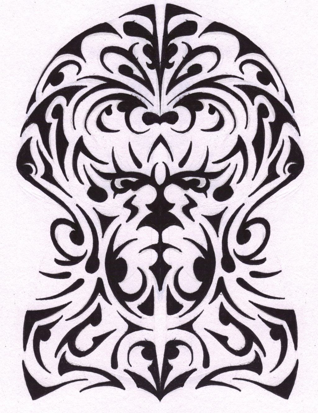 Half Sleeve Tribal Tattoo Png image #19376