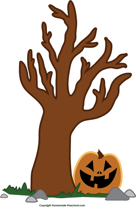 Clipart Halloween Tree PNG image #32620