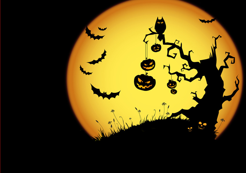 Halloween Tree Clipart PNG image #32610