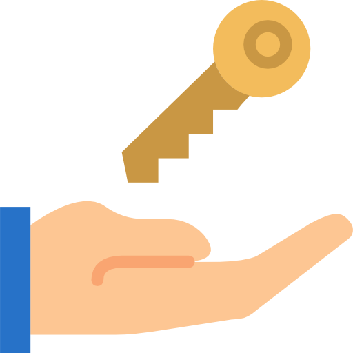 Hand With House Key Icon image #41565