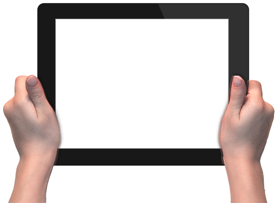 Hands With Tablet Png image #6786