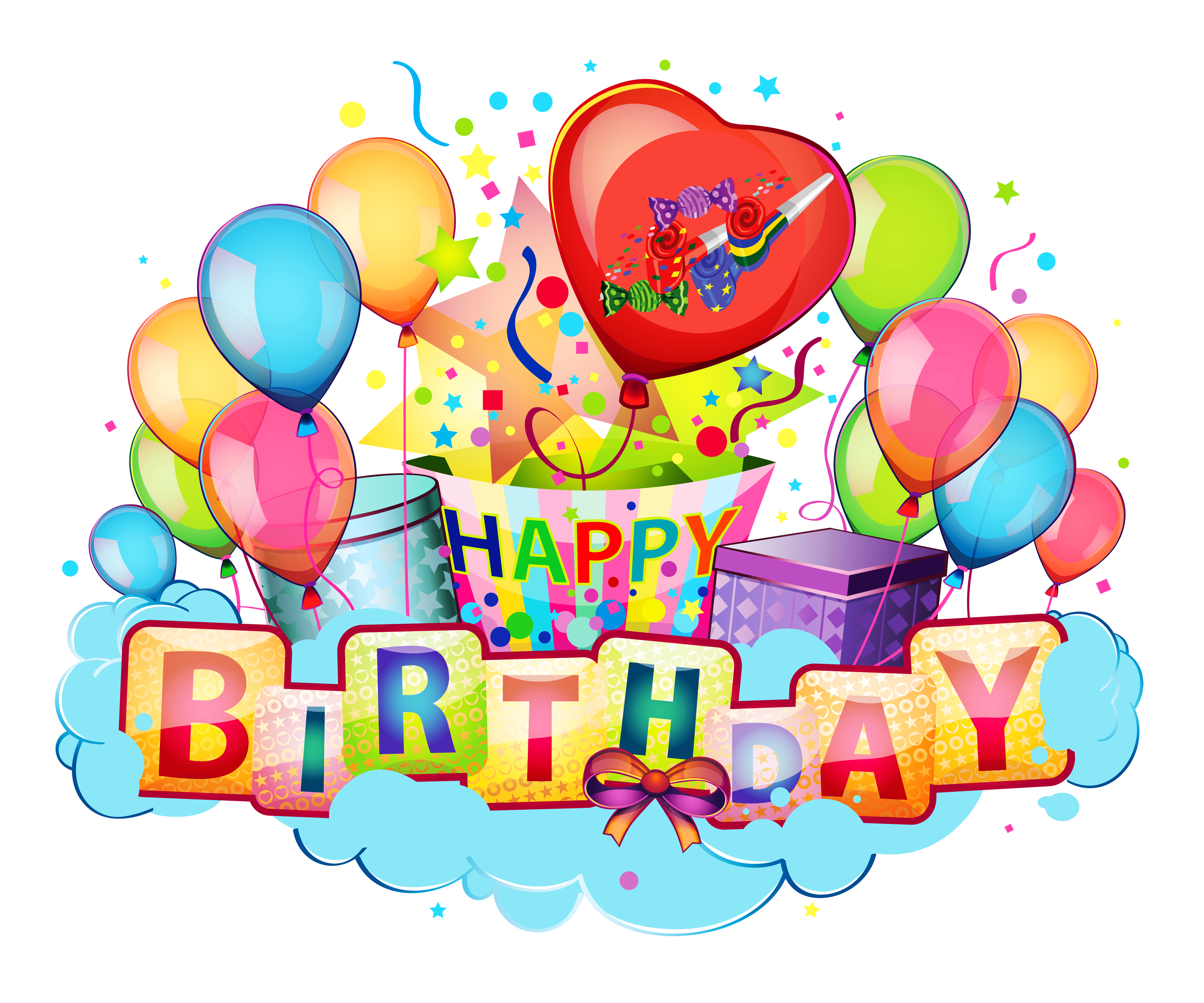 Happy Birthday Transparent PNG Pictures