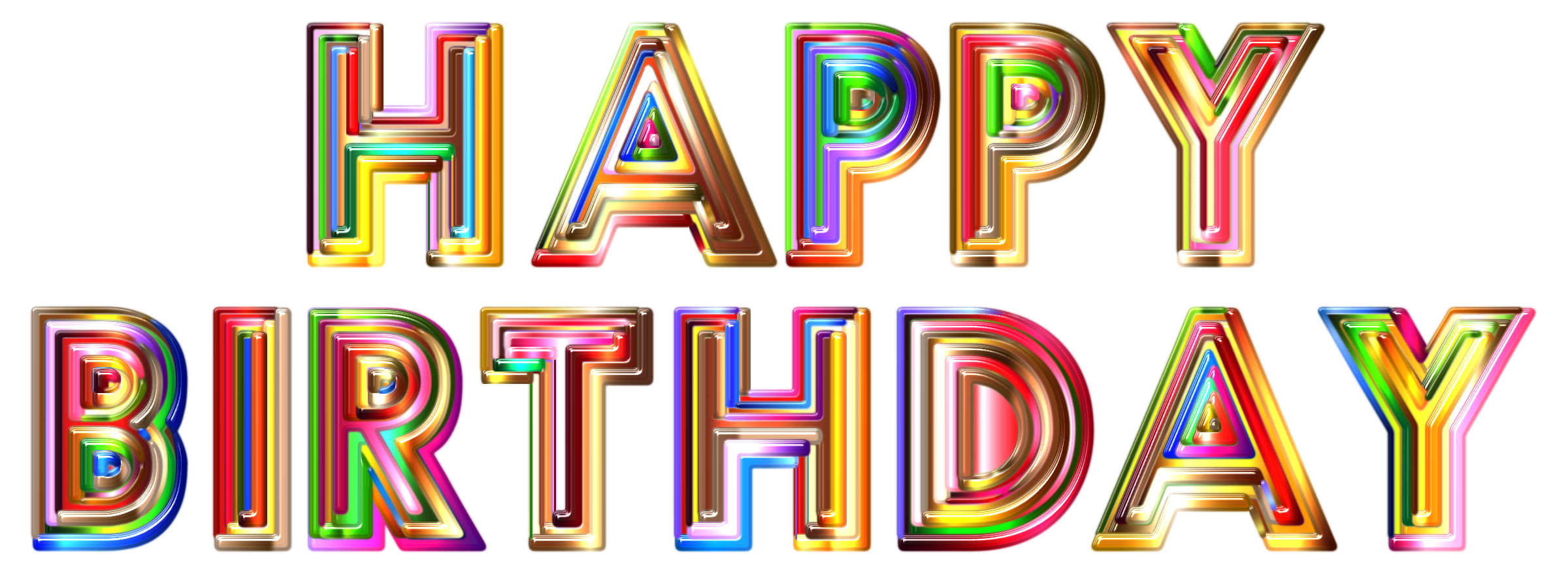 Happy Birthday Transparent Background