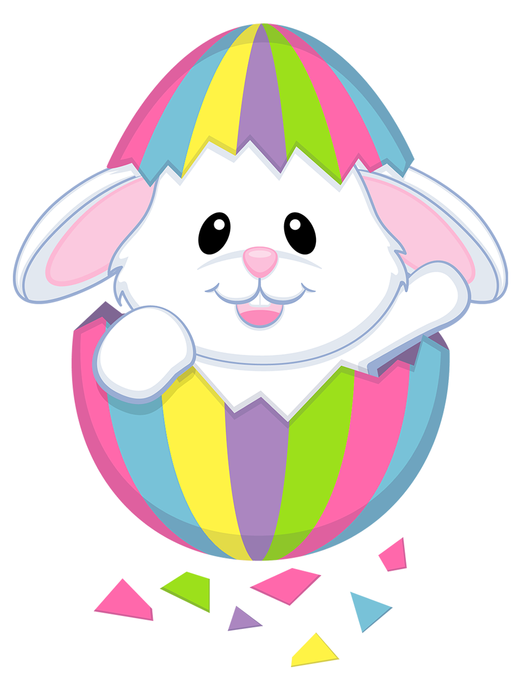 happy easter with bunny png clipart