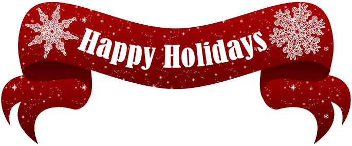 Happy Holidays Text Banner Png image #34710