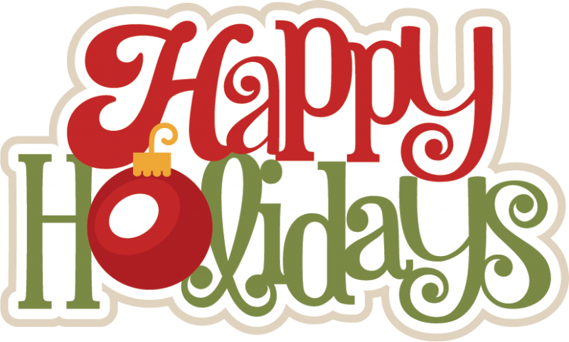 Happy Holidays PNG HD image #34704